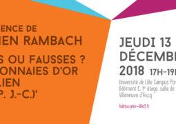 Atelier d'épigraphie et de numismatique (13 décembre 2018)