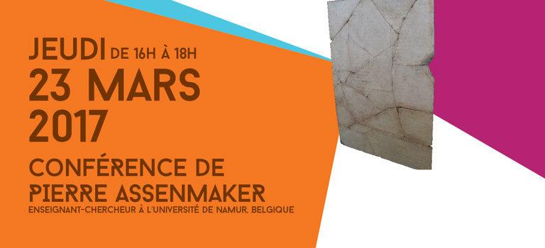 Conférence de Pierre Assenmaker (23 mars 2017)