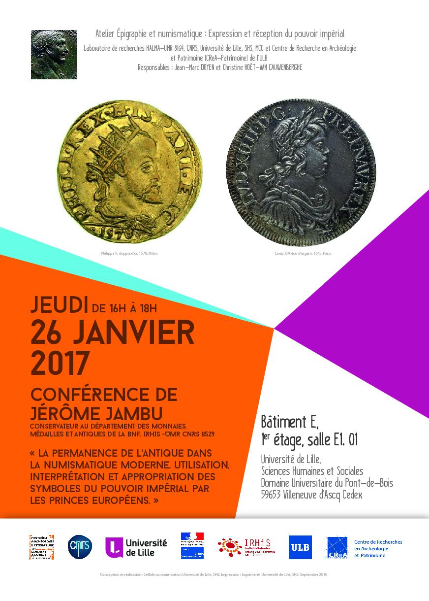 Séminaire d'épigraphie Janvier 2017