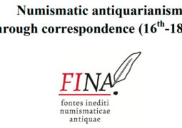 Numismatic antiquarianism through correspondence (16th-18th c.) (31 mai et 1er juin 2017)