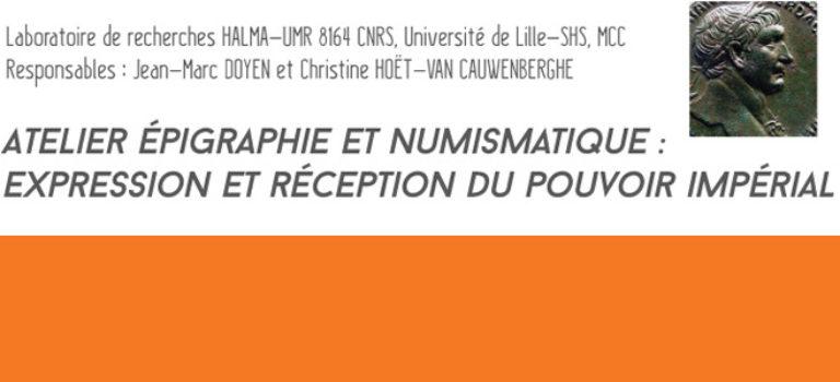 Atelier d'épigraphie et de numismatique (19 octobre 2017)