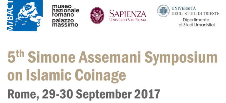 5th Simone Assemani Symposium (29-30 septembre 2017)