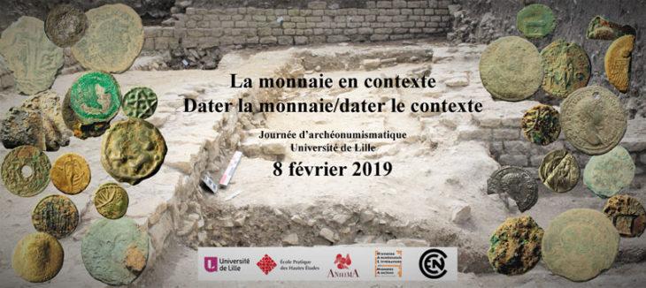Journée d'étude dédiée à l'archéonumismatique (8 février 2019)